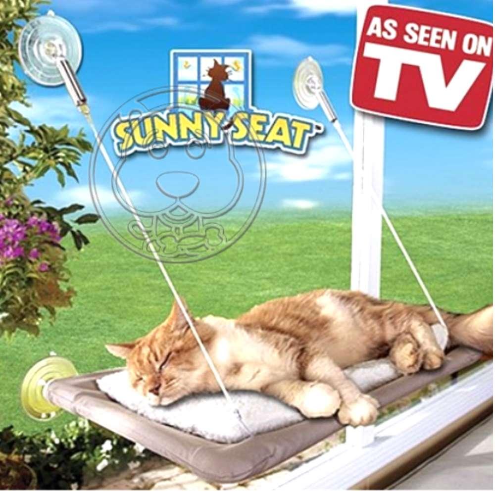sunny seat》貓咪寵物吸盤吊床 睡床一入