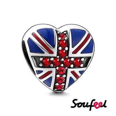 SOUFEEL索菲爾 925純銀珠飾 英國國旗 串珠