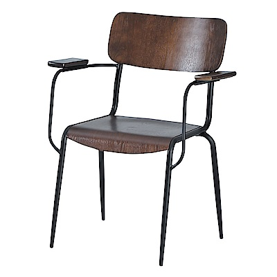 AS-伊諾克木墊扶手椅-65x40x82cm