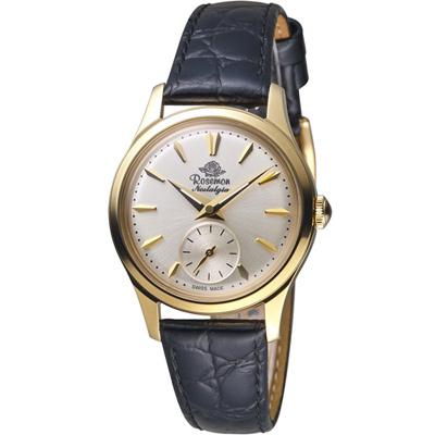 Rosemont 玫瑰錶 玫瑰米蘭系列小秒針女錶-白x金框/32mm