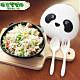 Cornflower玉米花快樂森林玉米餐具-熊貓餐盒(匙+叉) product thumbnail 1