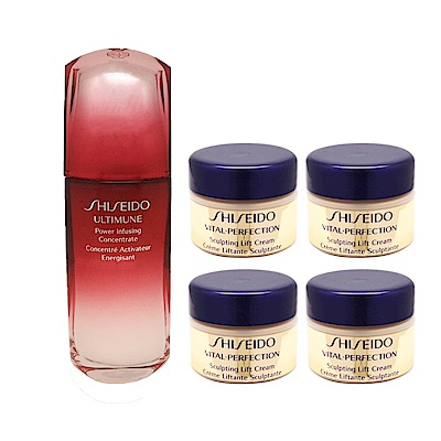 Shiseido 資生堂 紅妍肌活露緊顏白金超值組