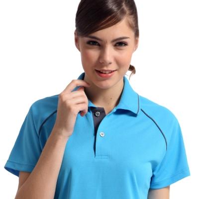 【Sunrise】88117-1清澈水藍★短袖POLO女版襯衫
