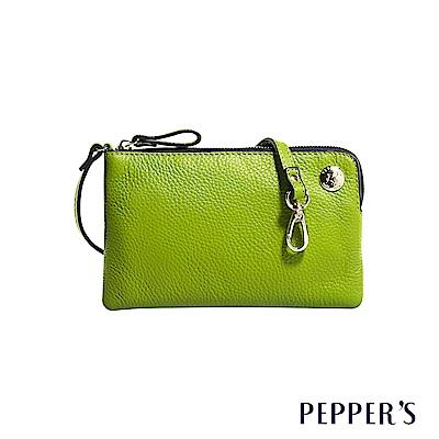 PEPPER`S Doris 牛皮手機隨身包 - 蘋果綠