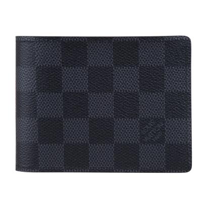 LV N63261 棋盤格雙折簡約短夾