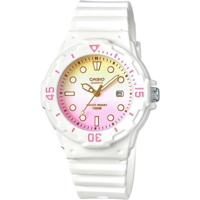 CASIO卡西歐 清涼海洋風女錶-漸層粉x白/32mm