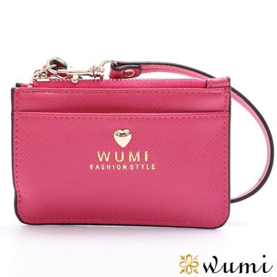 WuMi-無米-潔妮十字紋悠遊票卡夾-俏麗桃-快