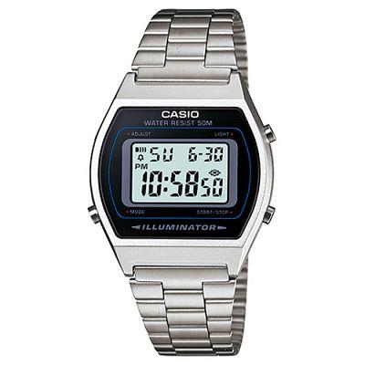 CASIO 大錶面簡約酒桶型數位錶(B640WD-1A)-銀/ 35mm