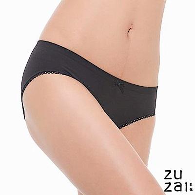 zuzai 自在膠原蛋白低腰女三角內褲-黑色