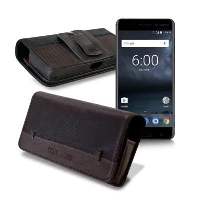 CB Nokia 6/小米Note 2/紅米Note 4X 品味柔紋橫式腰掛皮套