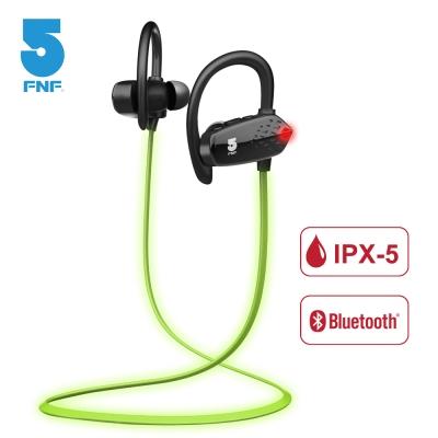 ifive IPX5螢光夜跑長效運動藍牙耳機(黑色)