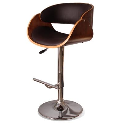 Vanessa瓦內薩吧台椅(皮質)–棕