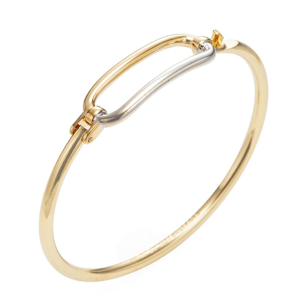 MARC BY MARC JACOBS金銀雙色幾何造型硬式手環