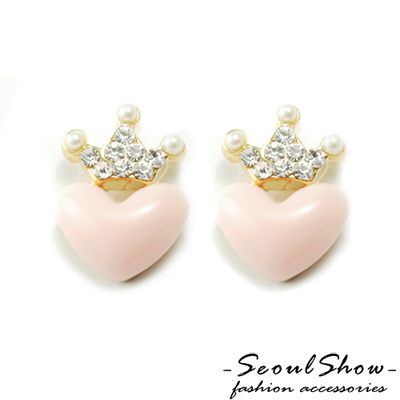 【Seoul Show】韓國直送  愛戀甜心  針式耳環