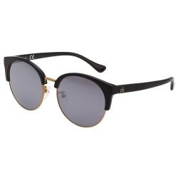 Calvin Klein- 復古 水銀灰 太陽眼鏡(黑色)CK4338SK