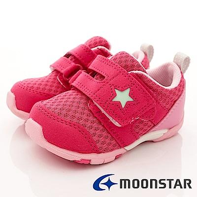 日本Carrot機能童鞋 抗菌2E箱型後套款 BEI81桃紅(寶寶段)