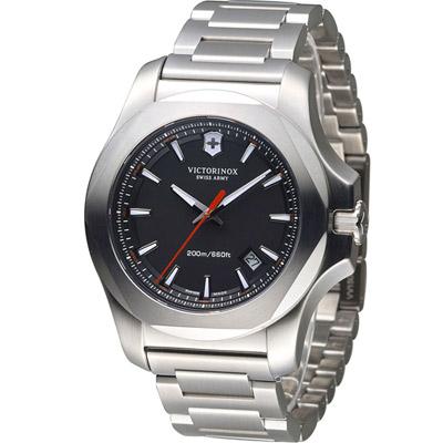 Victorinox 維氏 INOX 軍事標準專業腕錶-黑/43mm