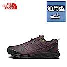 The North Face北面男款紫色吸濕排汗跑步鞋