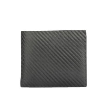 dunhill 經典Chassis碳纖維皮革多卡雙層短夾-黑色