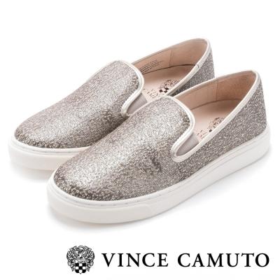 Vince Camuto 百搭時髦素色圖騰懶人便鞋-金色