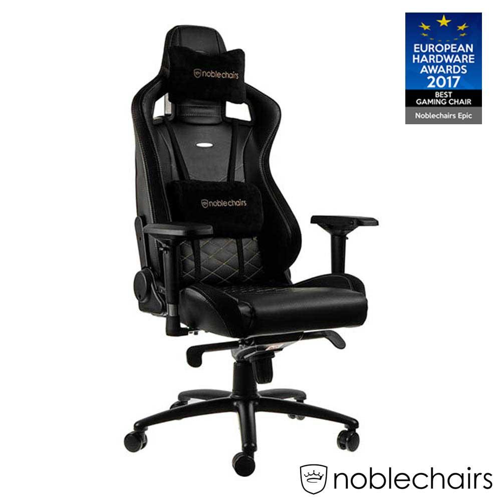 noblechairs 皇家 EPIC 系列電競賽車椅 (PU經典款) - 黑金