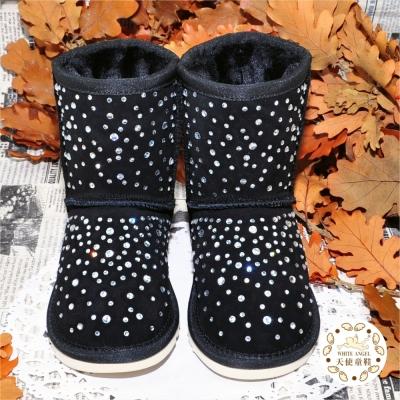 WhiteAngel天使童鞋-C266-04 璀璨星空雪靴-黑