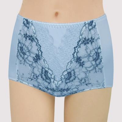 曼黛瑪璉-16SS包覆提托-雙弧  高腰三角修飾內褲(貝殼藍)