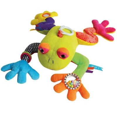 GMPBABY 法國娃娃Doudou花青蛙聲音玩具遊戲布偶 (37cm)