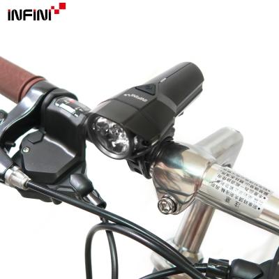 INFINI-LAVA I-264P 10W超高亮度白光LED警示燈5模式頭燈/前燈-黑