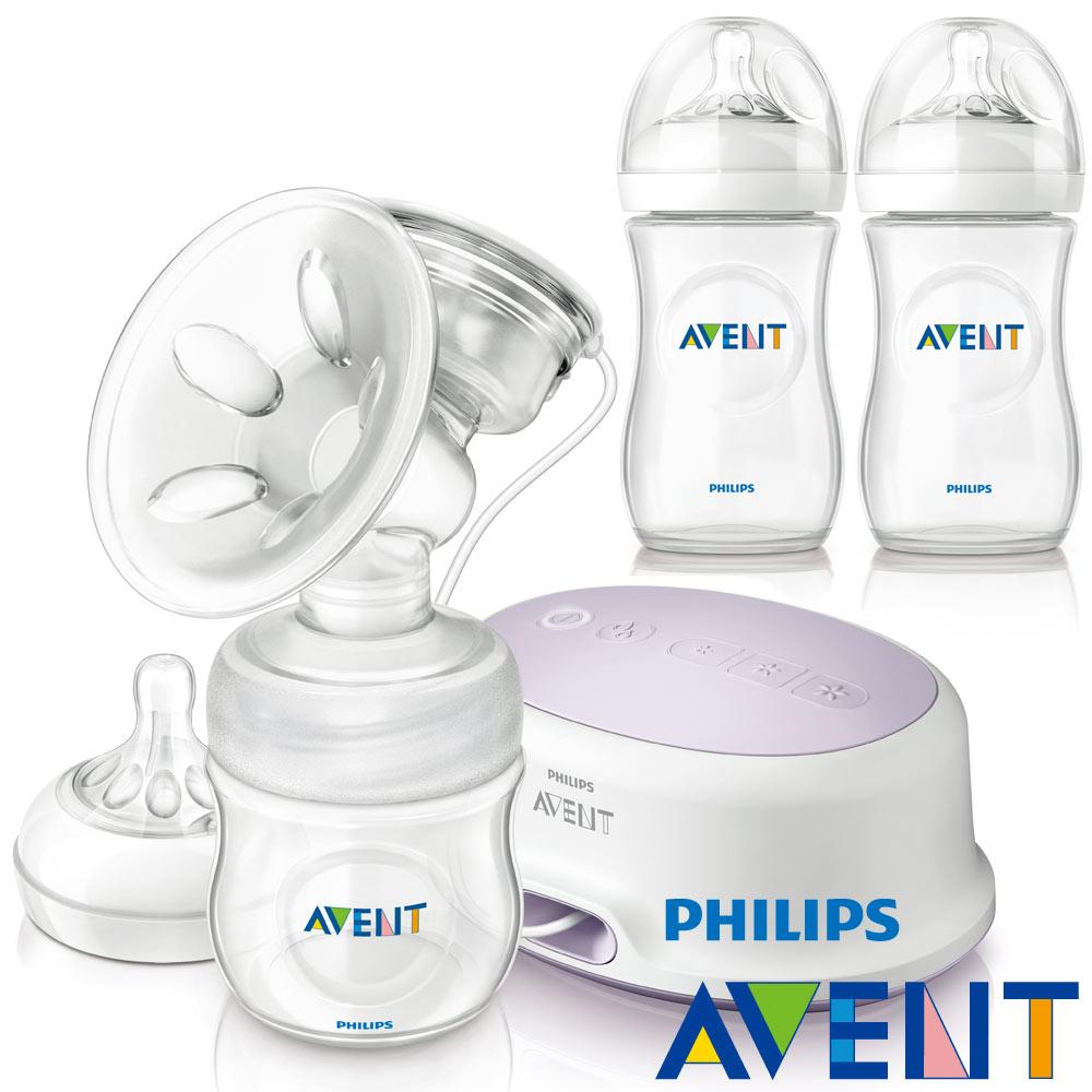 [54折]PHILIPS AVENT 輕乳感PP單邊電動吸乳器+親乳感PP防脹氣奶瓶260ml