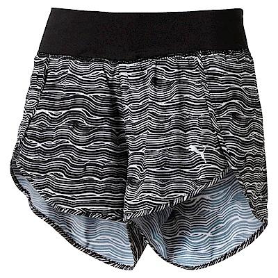 PUMA-女性慢跑系列Blast3吋印花短褲-黑色-歐規