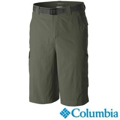 【Columbia哥倫比亞】男-快排防曬50短褲-軍綠色 UAM40840AG