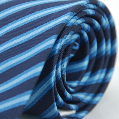 Alpaca 藍色漸層斜紋領帶