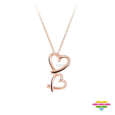 彩糖鑽工坊 愛心項鍊 銀鍍玫瑰金 桃樂絲 Doris系列