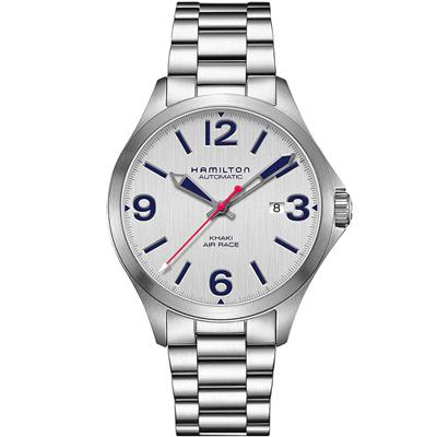 漢米爾頓 KHAKI AVIATION AIR RACEH飛行機械腕錶-42mm/銀色