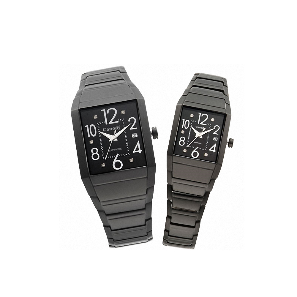 【Canody】 獨特魅力對錶(全黑)