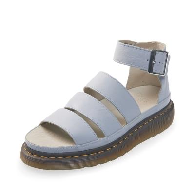 (女) Dr.Martens CLARISSA 三條寬帶厚底涼鞋*灰藍