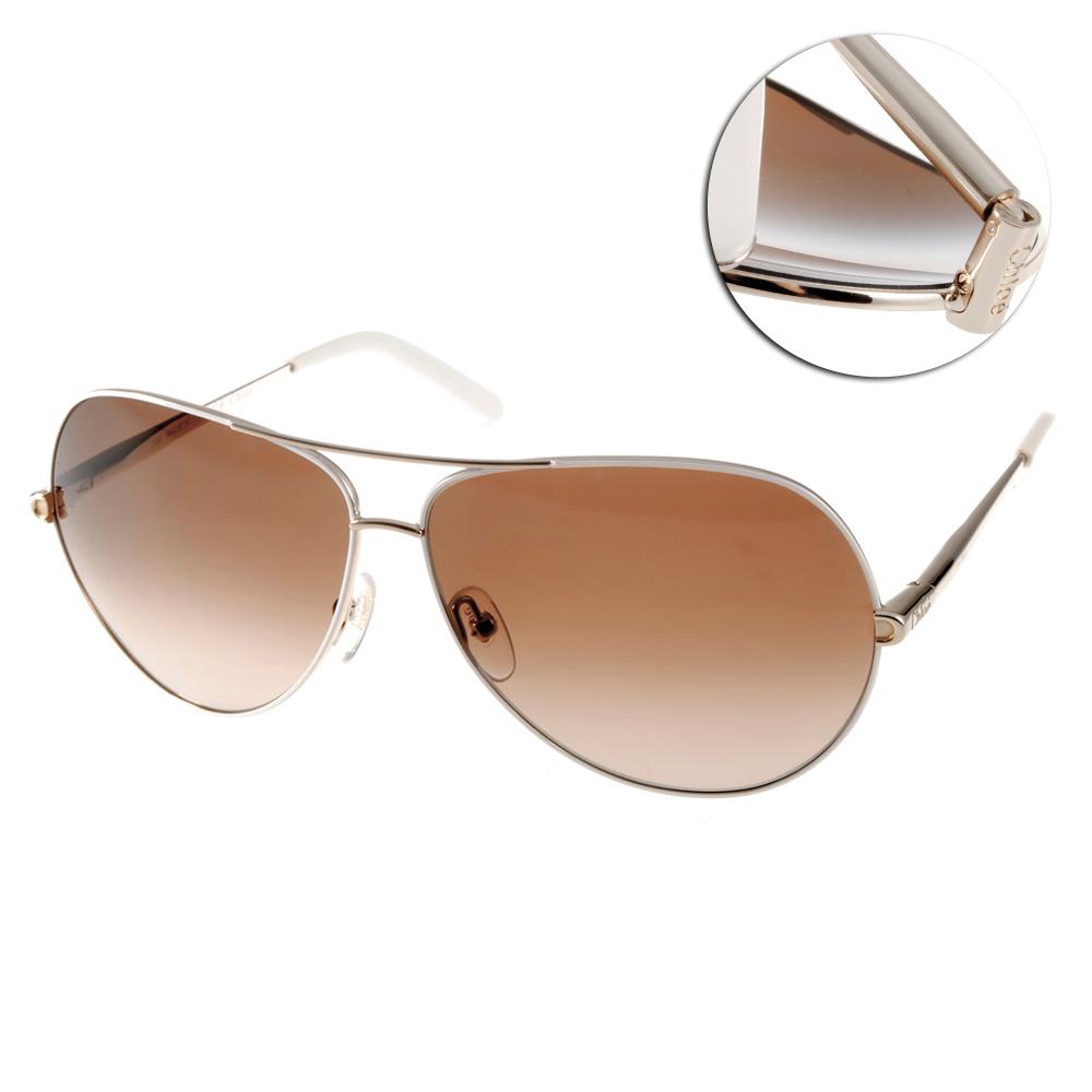 CHLOE太陽眼鏡 法式飛官系列/白-金#CL107S 762