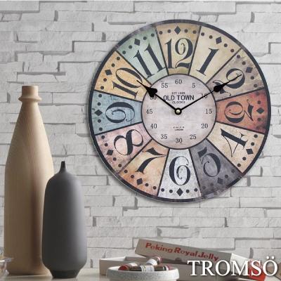 TROMSO無框畫時鐘-工業格調(圓形)