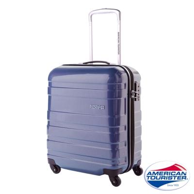 AT美國旅行者 18吋Mv+HS時尚硬殼四輪TSA登機箱(海軍藍)