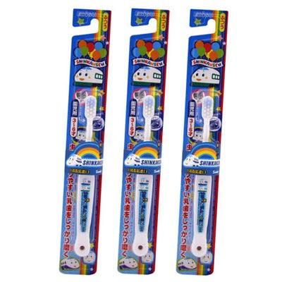 EBISU-新幹線 3~6歲兒童牙刷×3入