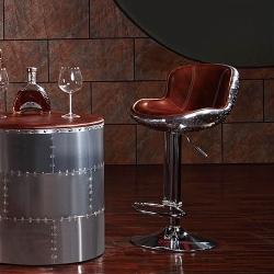 MUSE - Donald唐納德復古工業風牛皮鋁質飛行吧椅