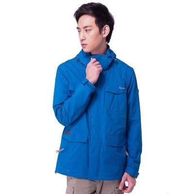 【hilltop山頂鳥】男款GORE-TEX 2L防水防風透氣外套H22MU4-藍