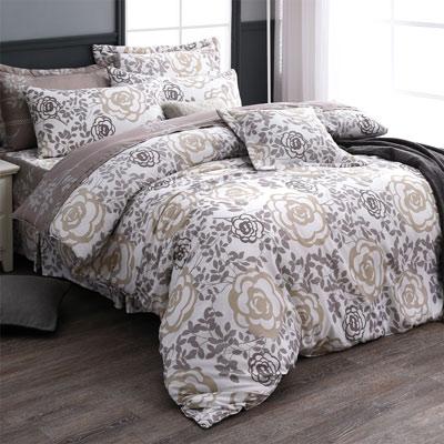 羽織美 玫瑰庄園 舒柔棉雙人八件式兩用被床罩組
