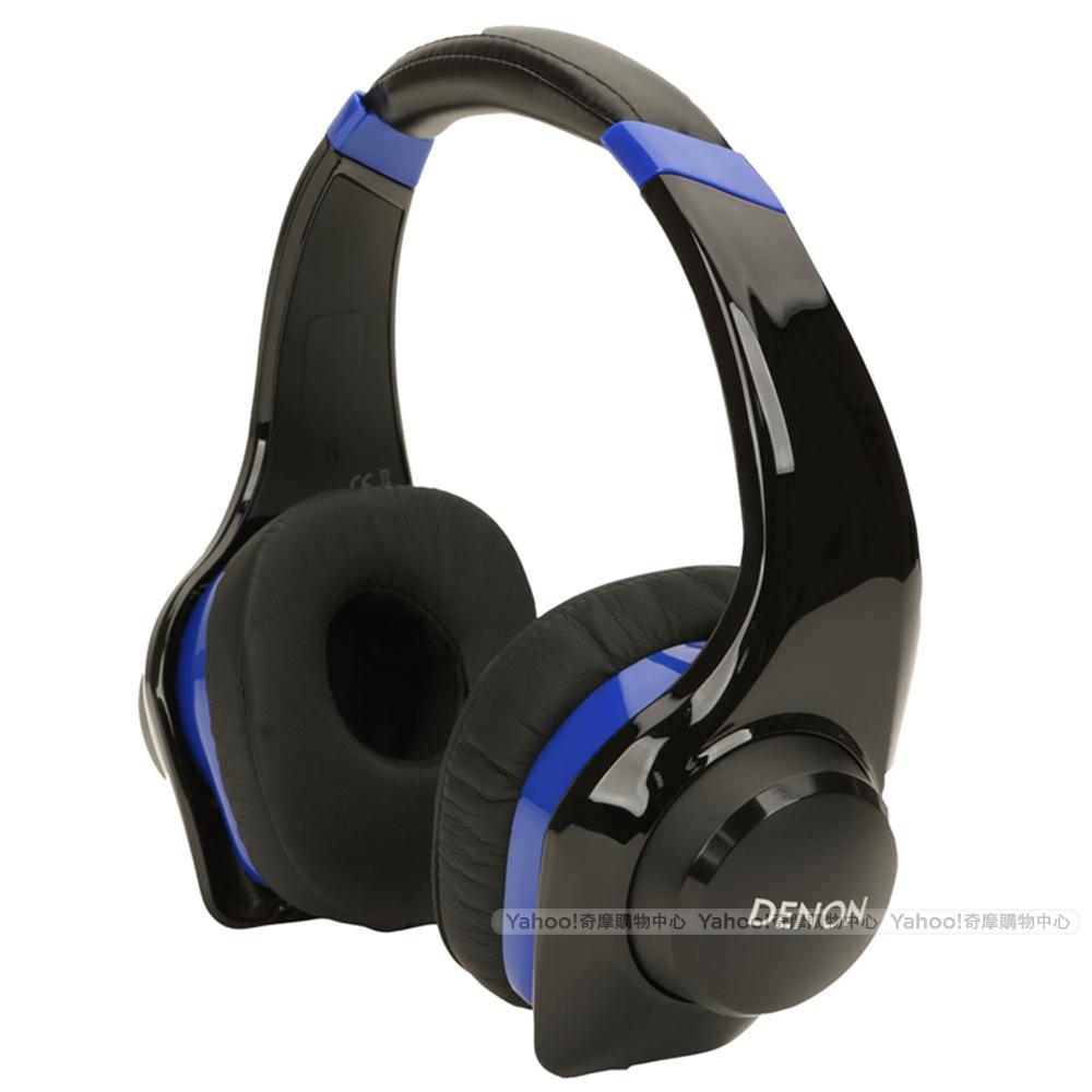 DENON 耳機 AH-D320 搖滾尖峰 藍色 耳罩式耳機