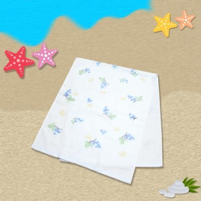 日本製水果麻紗長巾34*82cm (藍)