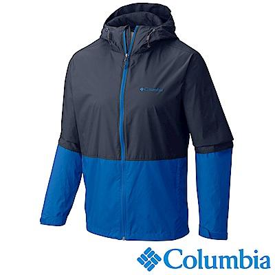 Columbia 哥倫比亞 男款-防潑風衣連帽外套-深藍 (URE30810NY)