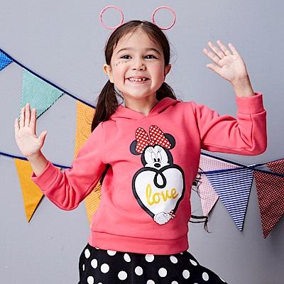 Disney 米妮系列手牽手連帽刷毛上衣 (2色可選)