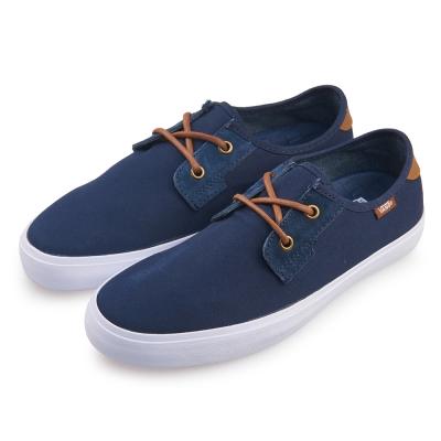 (男)VANS Michoacan SF 潮流素色復古休閒鞋*藍色