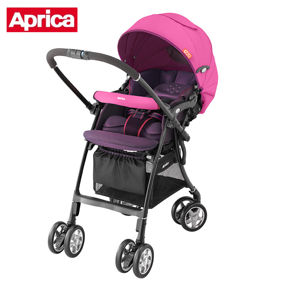 【Aprica】 輕量四輪嬰幼兒手推車-LUXUNA CTS 前瞻系列(玫瑰粉PK)